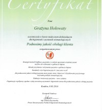 Podnosimy jakość obsługi Klienta - Grażyna Hołowaty