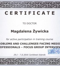 Problems and Challenges Facing Medical Professionals - Focus Group Interview - Dr Magdalena Żywicka