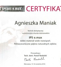 IPS e.max - Jeden materiał wiele rozwiązań - Pełnoceramiczne piękno naturalnych zębów - Agnieszka Maniak