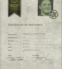 Certyfikat - Zirkonzahn Education - Military School by Enrico Steger - Sebastian Mataczyno