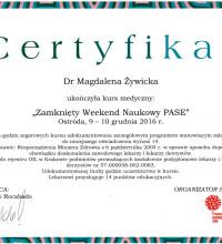 Zamknięty Weekend Naukowy PASE - Dr Magdalena Żywicka