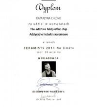 Addycyjne licówki skaleniowe - Ceramists 2013 No limits - Katarzyna Chłond