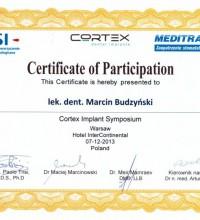 Cortex Implant Symposium - dental implants - lek. dent. Marcin Budzyński