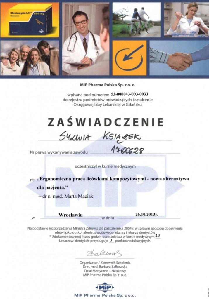 Ergonomiczna praca licówkami kompozytowymi - nowa alternatywa dla pacjenta - Sylwia Książek