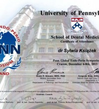 Penn Global Endo-Perio Sympozjum - School of Dental Medicine - dr Sylwia Książek