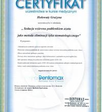 Sedacja wziewna podtlenkiem azotu jako metoda eliminacji lęku stomatologicznego – Grażyna Hołowaty
