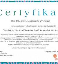 Zamknięty Weekend Naukowy PASE - kurs medyczny - lek. stom. Magdalena Żywicka