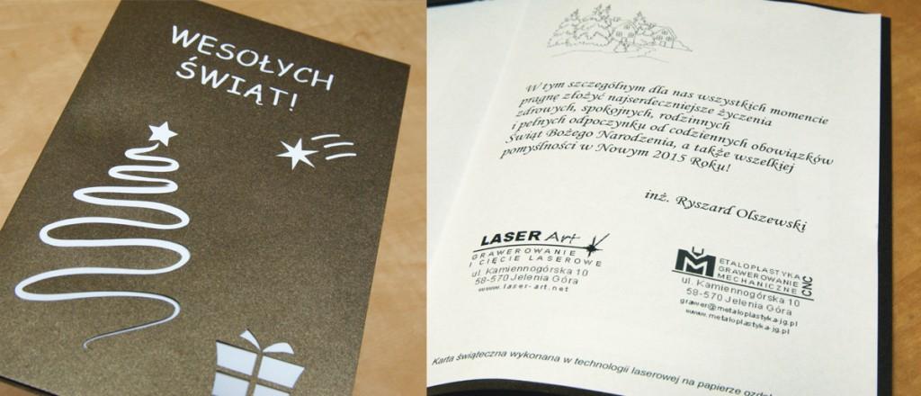 Życzenia od firmy Metaloplastyka Grawerowanie mechaniczne i laserowe LASER Art