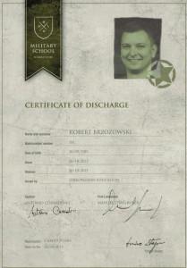 Certyfikat ukończenia kursu przez Roberta Brzozowskiego