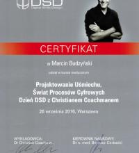Projektowanie Uśmiechu, Świat Procesów Cyfrowych - dzień DSD z Christianem Coachmanem - dr Marcin Budzyński