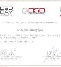 For Successfully completing The DSDDAY - certificate of completion - dr Marcin Budzyński
