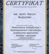 Nowoczesna endodoncja z zastosowaniem mikroskopu - praktyczne spojrzenie - wykład i warsztat - lek. stom. Marcin Budzyński