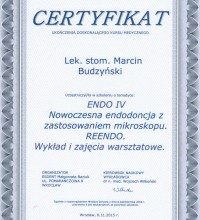 Nowoczesna endodoncja z zastosowaniem mikroskopu - REENDO - wykład i zajęcia warsztatowe - lek. stom. Marcin Budzyński