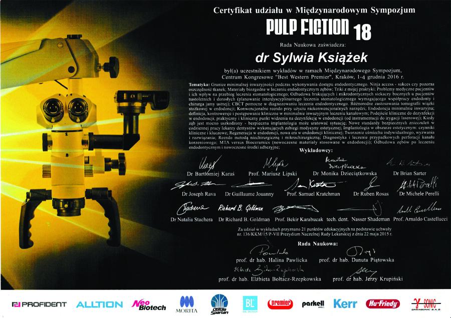 Międzynarodowy Kongres Pulp Fiction 18 - dr Sylwia Książek