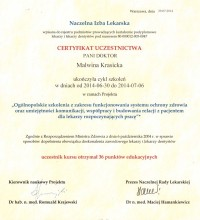 Ogólnopolskie szkolenia z zakresu funkcjonowania systemu ochrony zdrowia - Dr Malwina Krasicka